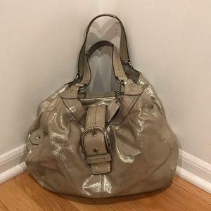Coach Metallic Large Lynn Leather Hobo bag purse